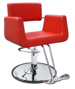 New Red Modern Hydraulic Barber Chair Styling Salon Beauty Spa Supplier 69R
