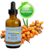 Botanical Beauty SEABUCKTHORN SEED OIL 100% Pure. Skin Care. Effectively Reduces Wrinkles, Dryness and Skin Lines. 0.5 Fl.oz.- 15 ml.