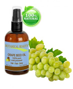 Grape Seed Oil, 100% Pure / Natural, Cold Pressed. For Face, Body and Hair. 2 oz.- 60ml