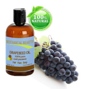 Botanical Beauty Grapeseed Oil, 100% Pure/ Natural, Cold Pressed. For Face, Hair and Body... 8 oz-240 ml