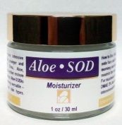 Aloe-SOD (Superoxide Dismutase) Anti-ageing Moisturiser - for smoother, younger and radiant complexion. Contains SOD, Shea, ALoe, Chamomile, Vitamin E and Calendula extract. Suitable for all skin types. PARABEN FREE, FRAGRANCE FREE
