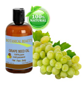 Grape Seed Oil, 100% Pure / Natural, Cold Pressed. For Face, Hair and Body. 16 oz- 480 ml