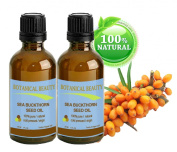 Botanical Beauty SEABUCKTHORN SEED OIL 100% Pure. Skin Care. Effectively reduces wrinkles, dryness and skin lines. 1 Fl.oz.- 30 ml.