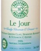 Organic - Le Jour Vitamin C Cream - with European Green Clay, Spanish Rosemary and Vitamin C Ester - Paraben Free