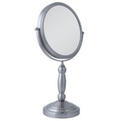 Zadro VAN410 Two-Sided Vanity Swivel Mirror, Satin Nickel, 1X and 10X