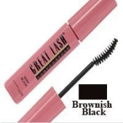 Maybelline Great Lash Mascara, Curved Brush, Brownish Black N°122