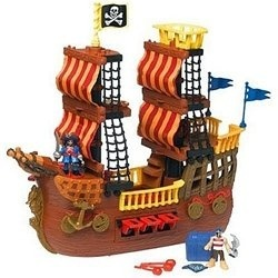 Imaginext: Pirate Ship with Pirate Gear Bonus