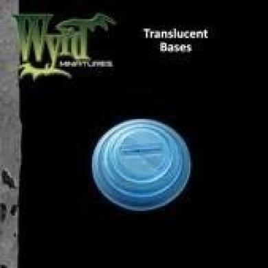 Blue Translucent Bases 30mm (10) WYR0052 WYRD MINIATURES