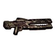 Brickarms Custom Minifigure Weapon - Xrg In Gunmetal/black Tiger Camo - X-series Ideal For Halo