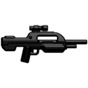 Brickarms Custom Minifigure Weapon - Xbr-7.6cm Black - X-series Ideal For Halo