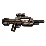 Brickarms Custom Minifigure Weapon - Xbr7.6cm Gunmetal/black Tiger Camo - X-series Ideal For Halo