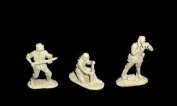 Classic Toy Soldiers WWII German Artillery Crew, 6 figures in 3 poses in grey soft plastic