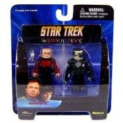 Star Trek Diamond Select Toys Series 4 Minimates Captain Picard and Borg Drone