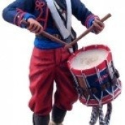 American Civil War Toy Soldiers Union Zouave Drummer 114th Pennsylvania W Britain 1/32 Scale Metal Figure Mint in Package