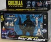 Godzilla Wars SUPERCHARGED GODZILLA Action Figure with Power-UP Snap-On Armour
