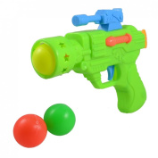 Assorted Colour Table Tennis Balls Green Plastic Gun Fight Toy for Children