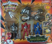 Power Rangers Jungle Fury - 3 Power Rangers and Cycle Toy