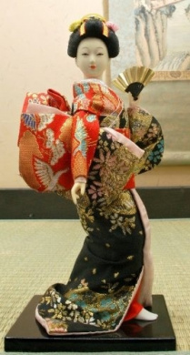 Authentic Japanese Geisha Vintage Dolls: 9 inches-#2