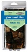 Midwest Products Value Pack Metallic Glass Tiles, Dark Mix