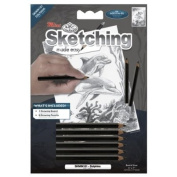 """Mini Sketching Made Easy Kit 13cm X7""""-Dolphins"""