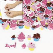 Cupcake Self-Adhesive Foam Shape Stickers - 500 pcs