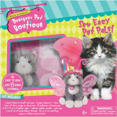 Colorbok Sew Easy Pet Pals Kit Grey Cat W/Wings