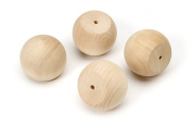Darice 9119-31 Big Value Unfinished Wood Ball Knob, Natural, 5.1cm