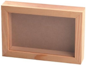 Darice 9162-71 Pine Wood Collection Box with 1.9cm Moulding