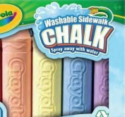 . 4 Ct. Washable Sidewalk Chalk