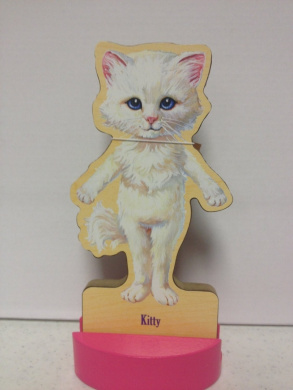 T.S. Shure Magnetic Wooden Dress-Up Doll- Kitty Cat Doll