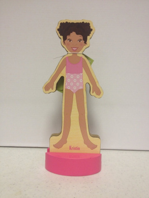T.S. Shure Magnetic Wooden Dress-Up Doll- Kristin Doll