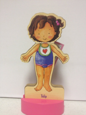 T.S. Shure Magnetic Wooden Dress-Up Doll- Tulip Baby Doll