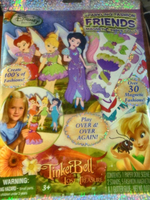 Sparkling Fashion Friends Magnetic Paper Dolls Tinker Bell & The Lost Treasure