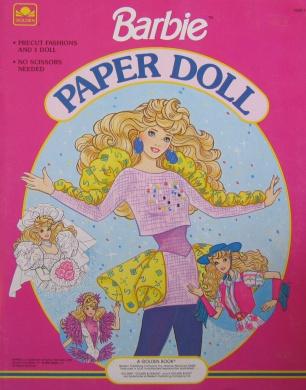 Barbie Paper Doll Book w Wedding, Skating, Western & More Fun Fashions! (1990)