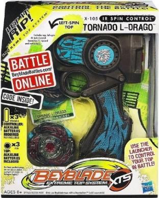 Beyblade IR Spin Control Extreme Top System: Tornado L-Drago