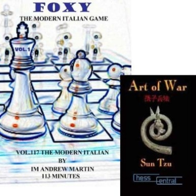 Foxy Chess Openings, Vol. 117: The Modern Italian Game DVD & ChessCentral's Art of War E-Book 2 Item Bundle