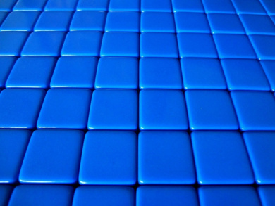 25 Blank Blue Dice 16MM