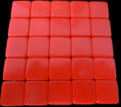 25 Blank Red Dice 16MM