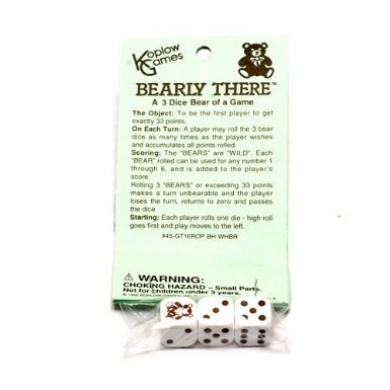 "Bearly There"" Dice Game"
