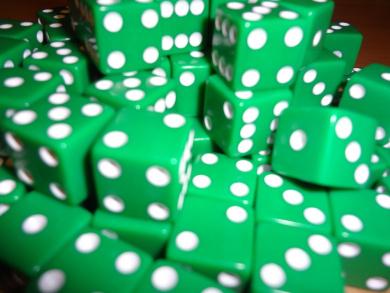 50 Green Dice - 16MM