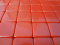 50 Blank Red Dice 16MM