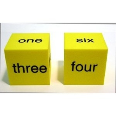 Spot Word Number Dice Set Of 2