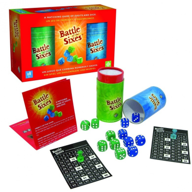 Family Games Battle of the Sixes Dice Game