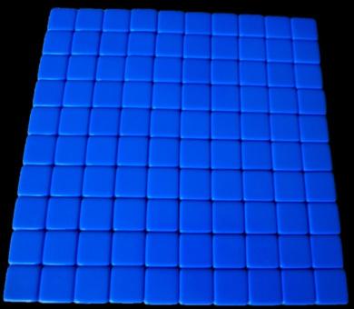 100 Blank Blue Dice 16MM