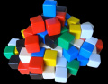100 Assorted Blank Dice 16 mm