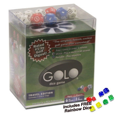 Golo Dice Game - Travel Edition. Plus Free Rainbow Dice!