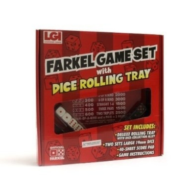 Brybelly Holdings TLEG-04 Farkel Game Set with Dice Rolling Tray
