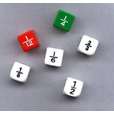 Fraction Dice Set Of 6 -- Case of 8