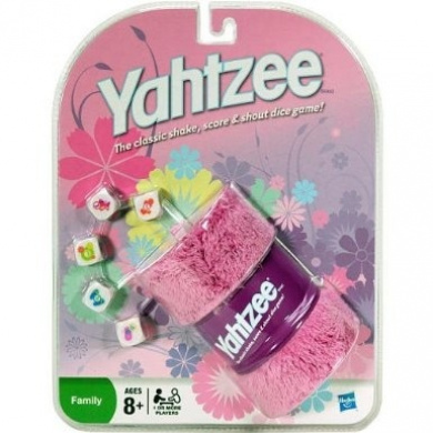 Pink Yahtzee- The Classic Shake, Score, and Shout Dice Game!