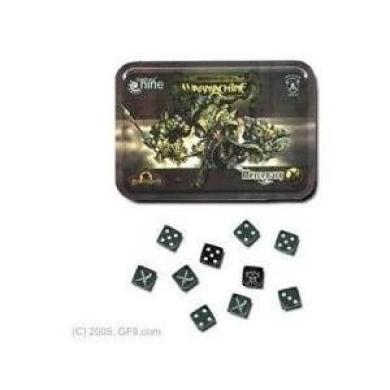 Warmachine Mercenary Collector's Tin Case w/ 10 Dice Gale Force Nine
